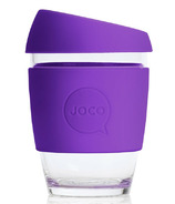 JOCO Glass Reusable Coffee Cup in Purple