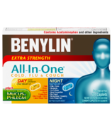 Benylin All-In-One Extra Strength Cold Flu & Cough Caplets