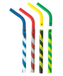 GreenPaxx Silicone Reusable Straws Athletic Stripes