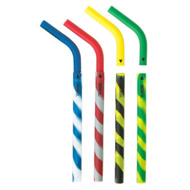 GreenPaxx Silicone Reusable Straws Athletic Stripes