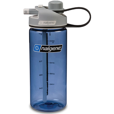 Nalgene 20 Ounce MultiDrink Bottle Blue with Gray Cap