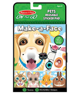 Melissa & Doug On the Go Make-a-Face Pet Animals Reusable Sticker Pad