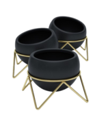 Umbra Potsy Planter Set Black/Brass