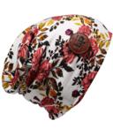 L&P Apparel Cotton Slouchy Beanie Newcastle Flower