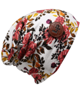 L&P Apparel Cotton Slouchy Beanie Newcastle Flower