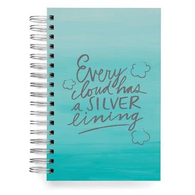 EcoJot Wirebound Notebook Silver Lining