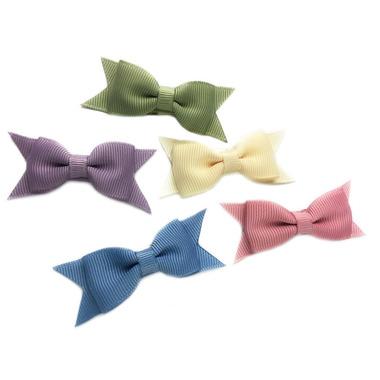 Baby Wisp 5 Cadeau Bows Snap Clip Ivy