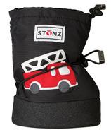 Stonz Black Fire Truck Infant Booties