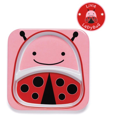 Skip Hop Zoo Tableware Melamine Plate Lady Bug Design