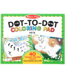 Melissa & Doug 123 Dot-to-Dot Pets Coloring Pad