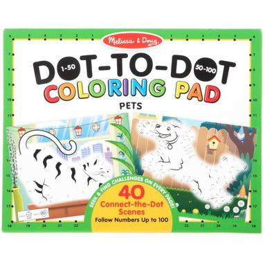 Melissa & Doug 123 Dot-to-Dot Pets Coloring Pad