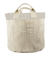 Fluf Tote & Bin Cross Print - Small