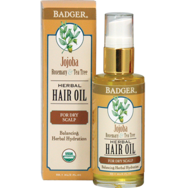 Badger Herbal Hair Oil for Dry Scalp