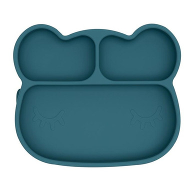 We Might Be Tiny Bear Stickie Plate Blue Dusk