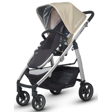 Buy UPPAbaby Cruz Stroller Lindsey Wheat & Silver at Well ...