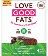 Barres à la menthe et aux pépites de chocolat Love Good Fats