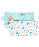 Bumkins Reusable Snack Bag Small Rain & Umbrella