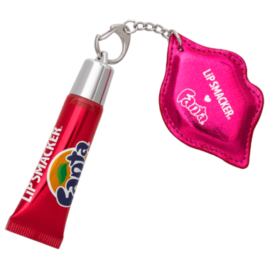 Lip Smacker Strawberry Fanta Refresh Lip Gloss with Keychain
