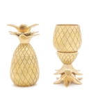 W&P Pineapple Shot Glass Set Gold