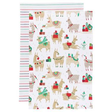 Now Designs Tea Towel Set Fa La La La Llama