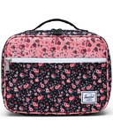 Herschel Supply Pop Quiz Lunch Box Multi Ditsy Floral Black & Flamingo Pink