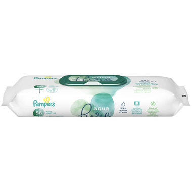 Pampers Aqua Pure Baby Wipes Travel Pack