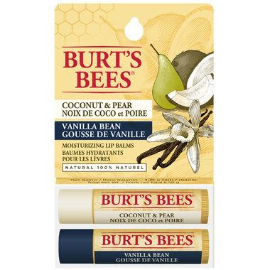 Burt\'s Bees Coconut Pear and Vanilla Bean Lip Balm Duo Pack