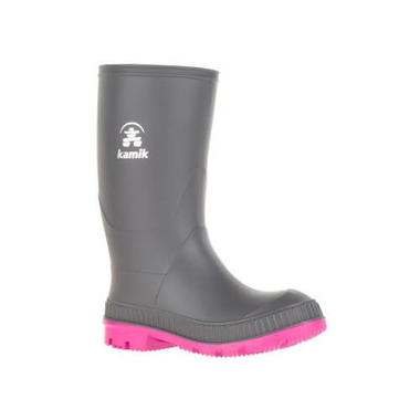 Kamik Stomp Rain Boot Charcoal Magenta