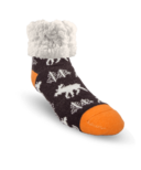 Pudus Classic Slipper Sock Moose Grey Toddler