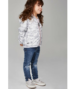 O8 Lifestyle Kid's Full Zip Packable Jacket White Camo
