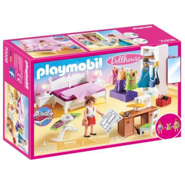Playmobil Dollhouse Bedroom with Sewing Corner