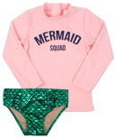 Shade Critters Mermaid Squad Rashguard Set