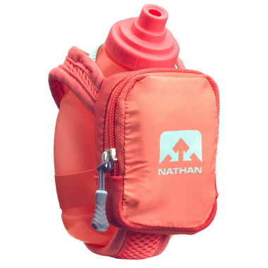 Nathan Sports QuickShot Plus Hydration Flask Fusion Coral