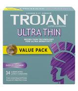 Préservatifs en latex lubrifiés Trojan Sensitivity Ultra Thin