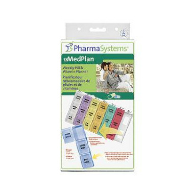 PharmaSystems Weekly Pill & Vitamin Planner - Three Times Daily