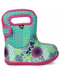 Bogs Baby Waterproof Boots Flower Dot Mint Green Multi