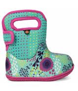 Bogs Baby Waterproof Boots Flower Dot Mint Green Multi