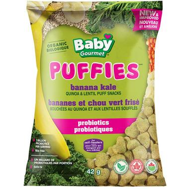 Baby Gourmet Puffies Probiotics Banana Kale Puff Snacks