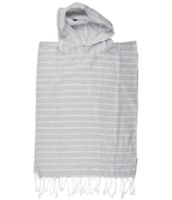 House of Jude Turkish Towel Child Poncho Stone