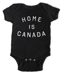 Peace Collective Home is Canada Short Sleeve Onesie Black