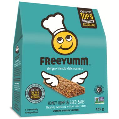 FreeYumm Honey Hemp & Seed Bars