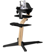 Nomi Highchair White Oak with Black Seat