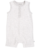 petit lem Sleeveless Romper Heather Grey Stripes 3M-12M