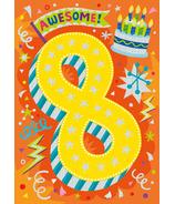 Peaceable Kingdom Age 8 Pattern Foil Card