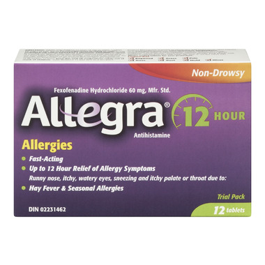 Allegra Allergy 12 Hour Relief Trial Pack