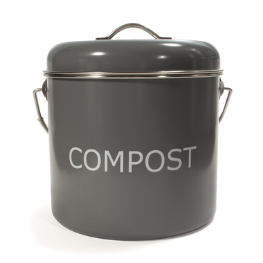 KitchenBasics Compost Bin + Charcoal Filter Grey