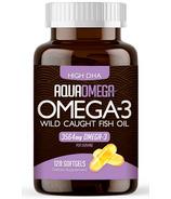 AquaOmega Omega-3 Fish Oil High DHA