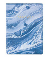 Eccolo Passport Case Blue Marble