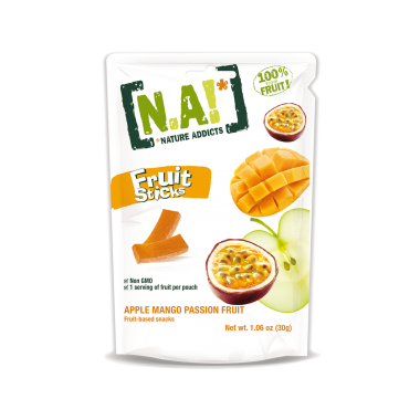 Nature Addicts Natural Fruit Stick Apple, Passion Fruit and Mango