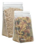(re)zip Stand-Up Tall Reusable Storage Bag Clear